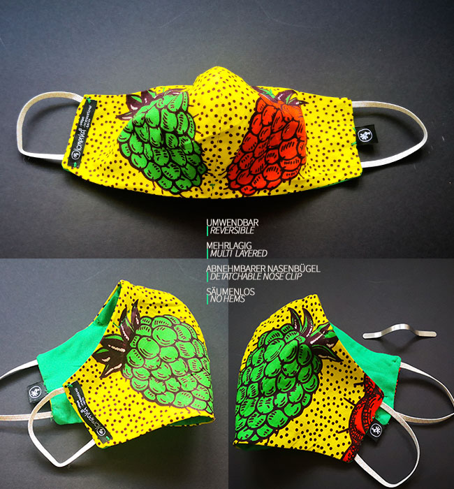 Olomenka Reversible Mask _Snazzy Facie _PineDreamMAIN